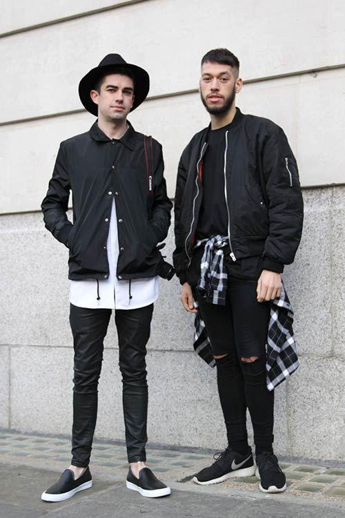 2015-03-18のファッションスナップ。着用アイテム・キーワードはカットソー・トレーナー, スニーカー, チェックシャツ, ハット, ブルゾン, 黒パンツ,MA-1, Nike(ナイキ)etc. 理想の着こなし・コーディネートがきっとここに。| No:96595