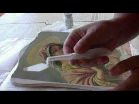 Illusion Deco con sfondo e finestra in carta Decomania decomania carta decoupage dècoupage painting ......................................... Illusion Deco w...