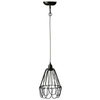 Wire Hanging Light Shade in Black