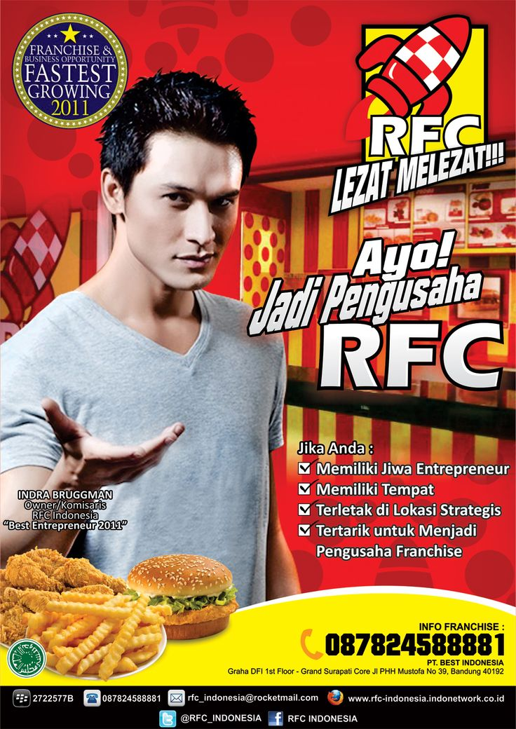 peluang franchise resto fried chicken disajikan dengan minuman ringan. Investasi ringan profit istimewa. Info: CV.Rocket Fried Chicken Pin BB: 260666CF, M: 087824588881