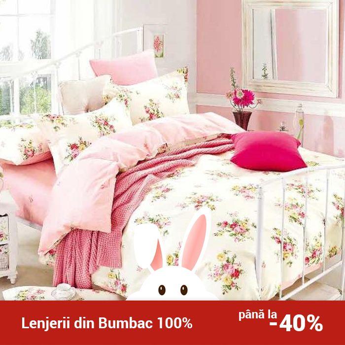 Lenjerie de pat din bumbac Valentini Bianco TB010/50