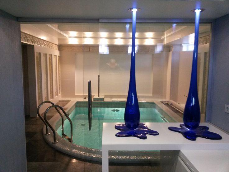 Скиммерный бассейн в домашнем СПА