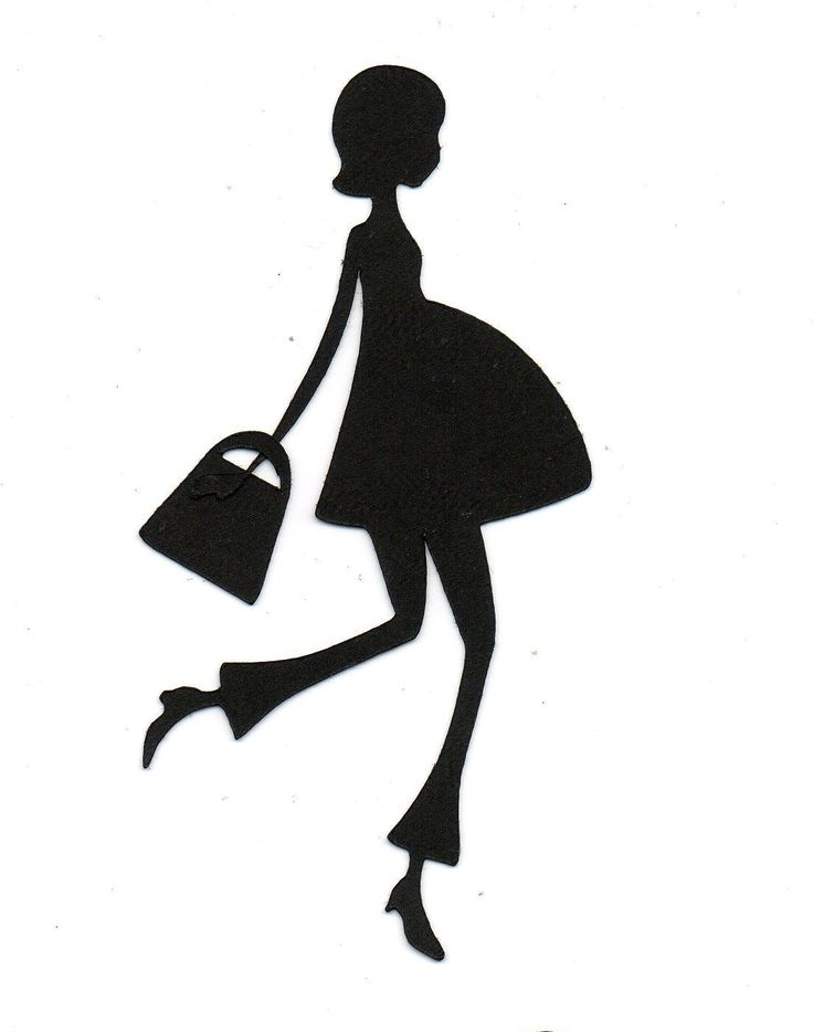 Expectant MOM Pregnant Silhouette die cut for scrap booking or card making. %s%.75, via Etsy.