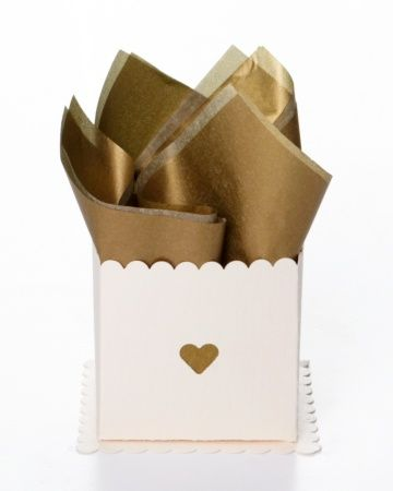 Punched Favor Box...this one is in gold, but you can use the idea with any color!