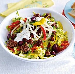 Das Rezept für Griechischer Krautsalat mit Gyroshack und weitere kostenlose Rezepte auf LECKER.de