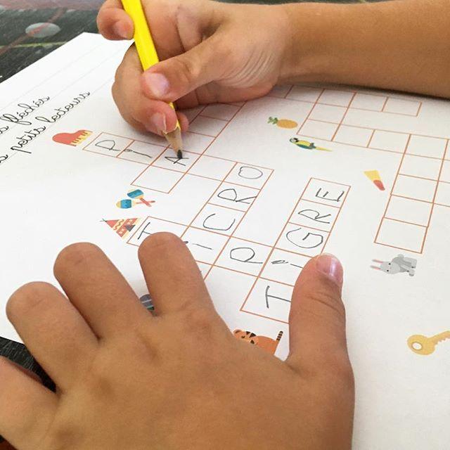 Mots fléchés des petits apprentis - jeux - lecture - apprentissage - http://www.unjourunjeu.fr/lespetitsapprentis/