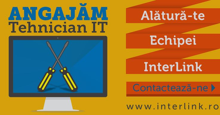 Cautam Coleg - Angajam Tehnician IT! http://www.interlink.ro/blog/cautam-coleg-angajam-tehnician