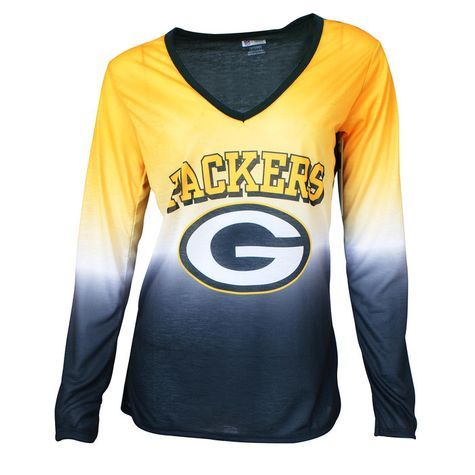 ... T-shirt Shopko Show your Green Bay Packers spirit why′ll relaxing in  this Ladies Long Sleeve Sublimated NFL Mens Green ... 6b3891f85