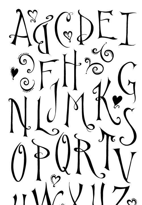 M s de 25 ideas fant sticas sobre tipos de letras en - Letras para adornar ...