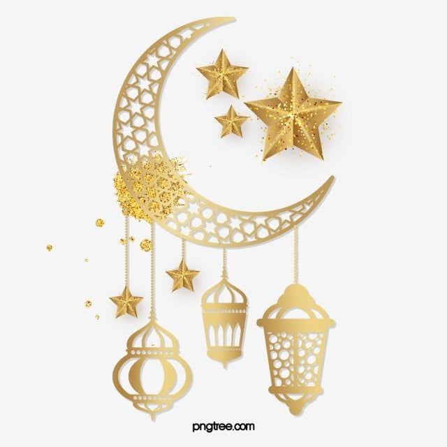 رمضان الفانوس العربي نجوم القمر الذهبي المتلألئ نجمة رمضان القمر Png وملف Psd للتحميل مجانا Star Clipart Ramadan Lantern Ramadan Images