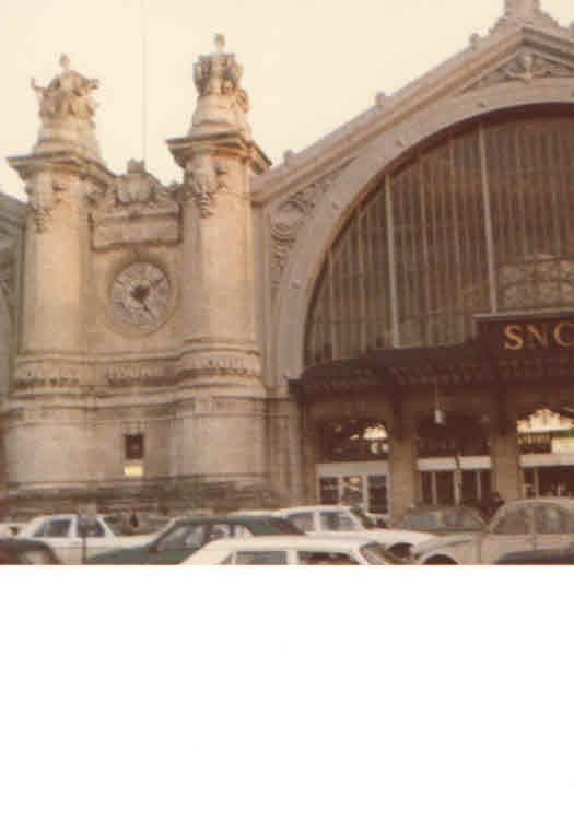 My own photograph of the Saint-Pierre-des-Corps railway station in Tours, France, 1979.