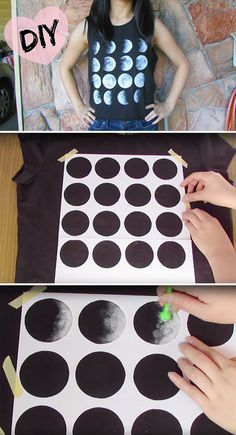 Moon phases t-shirt • diy how to make tutorial ideas projects sew pattern handmade instructions