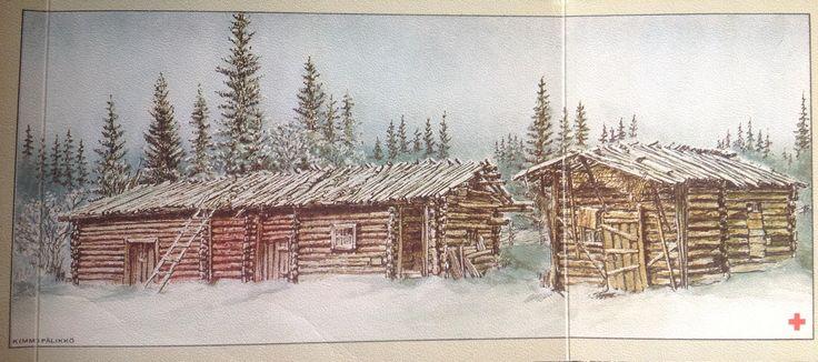 Kimmo Pälikkö Taidepostikortti Punainen risti