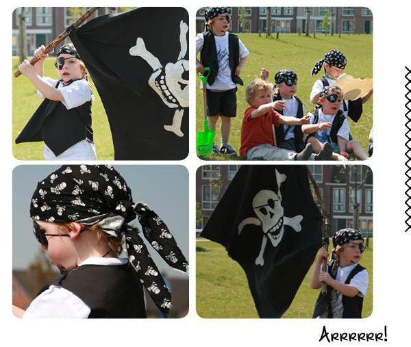 Een piratenfeestje organiseer je vrij eenvoudig zelf. Met een piratenvlag, een piratenkostuum, stoere hoofddoek en een schatkaart ben je al een heel eind. Volg onderstaande tips en trucs en je hebt alleen nog maar een paar kinderen nodig die een feestje willen vieren. Werkwijze Piratenvlag...