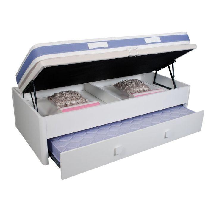 M s de 25 ideas incre bles sobre camas dobles en pinterest for Reciclar una cama de madera