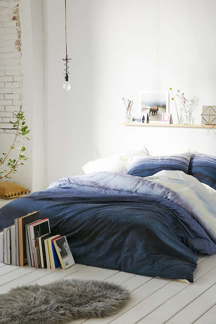 Monika Strigel For DENY Within The Tides Duvet Cover - Urban Outfitters  I like the colors in this, although not really the print. I also like the way it draped over the mattress and lands on the floor. No white, though