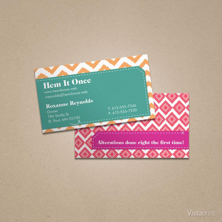 Custom Card Template vista print business cards : Custom Chevron Business Cards : Vistaprint : Business Card ...