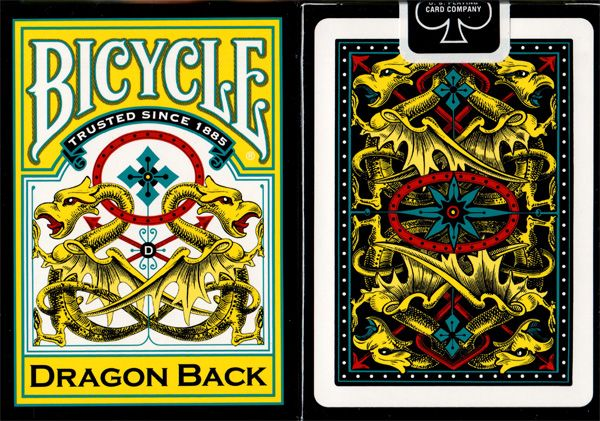 Bicycle Dragon Back Yellow Available at http://www.playingcards4magic.com/products/collector/