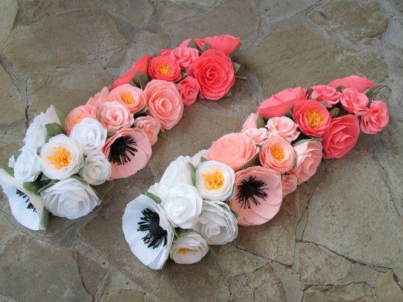 Paper Flower Garland/Paper Flowers/Wedding Arch Garland/Table Flower Garland/Poppy Garland/Rose Garland