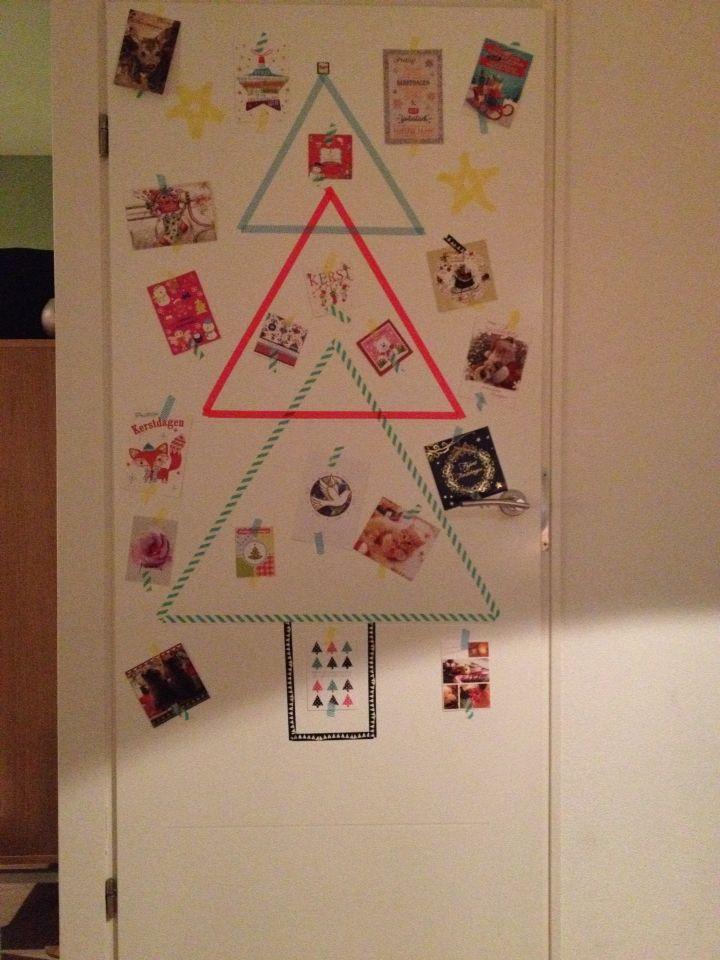 Kerstkaarten ophangen #washi tape