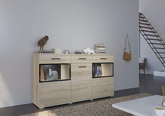 Home Direct Bruno Modernes Wohnzimmer, Kommode, Schrank