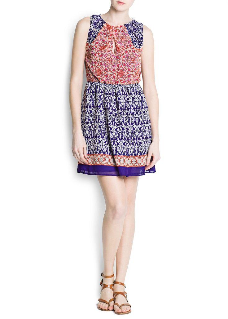 MANGO Chiffon printed dress