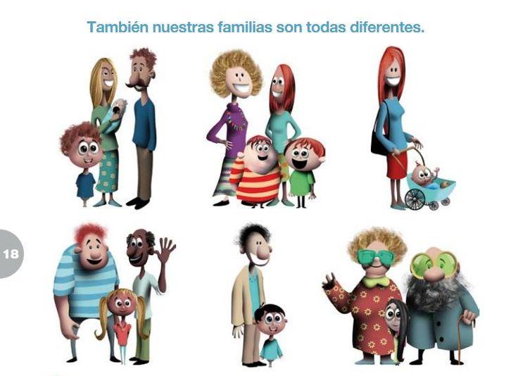 Con esta imagen trataremos los distintos modelos de familias. Se empezará por los que aparecen en la foto para seguir ampliando con cuentos, experiencias personales de los niños y niñas, etc.