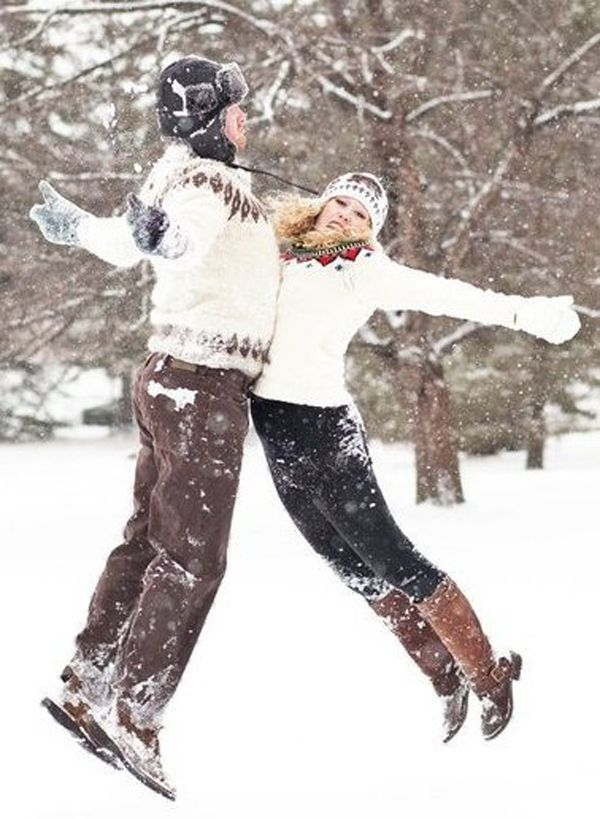 Such a fun photo would be a nice Christmas photo or a group of playing in the snow.