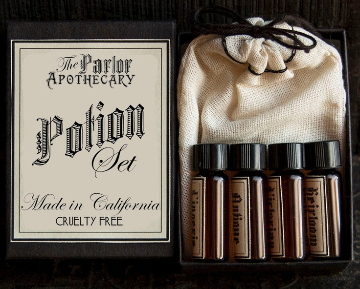 Perfume Gift Set  4 Victorian Potions  Vial by TheParlorApothecary, $22.00