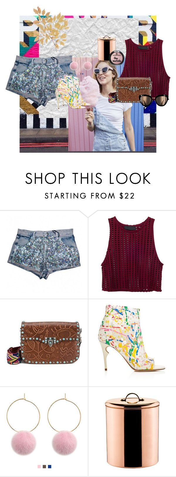 """""""all about a girl with glasses"""" by betsabe13 ❤ liked on Polyvore featuring Valentino, Jerome C. Rousseau and Old Dutch"""