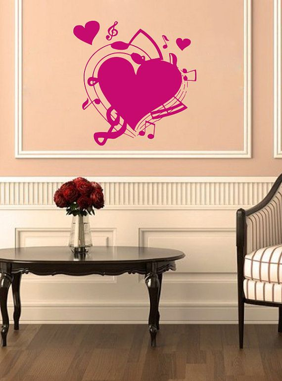 98 best Music theme images on Pinterest Vinyl decals Wall