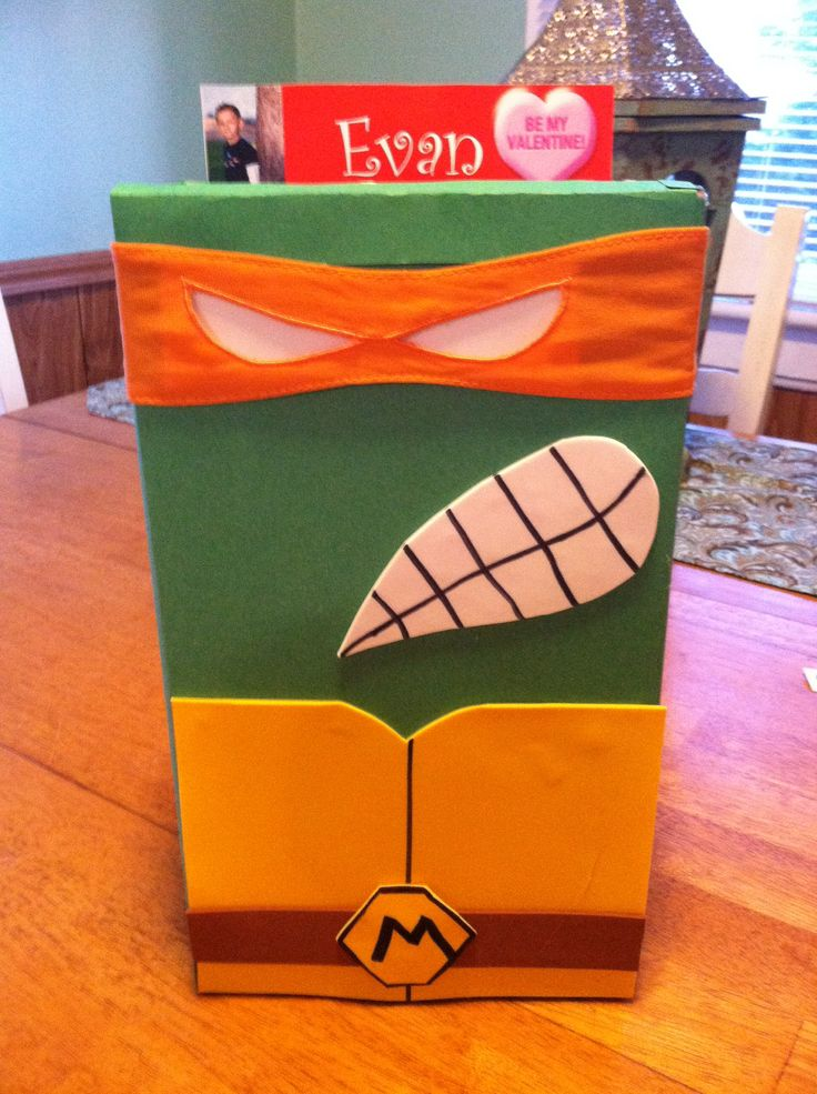 44 best school project ideas images on pinterest ninja turtles kids valentines day box