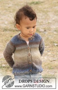 "DROPS Baby 20-16 - Stickad DROPS kofta med raglan i 2 trådar ""Delight"". - Free pattern by DROPS Design"