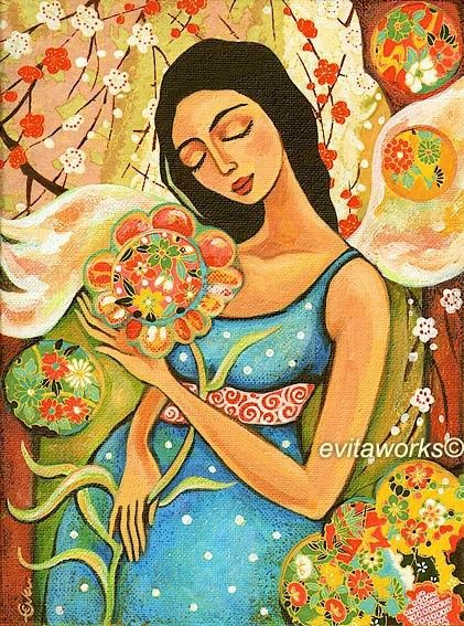 Pregnant Mother, Art, Maternity, Painting, Pregnancy ...