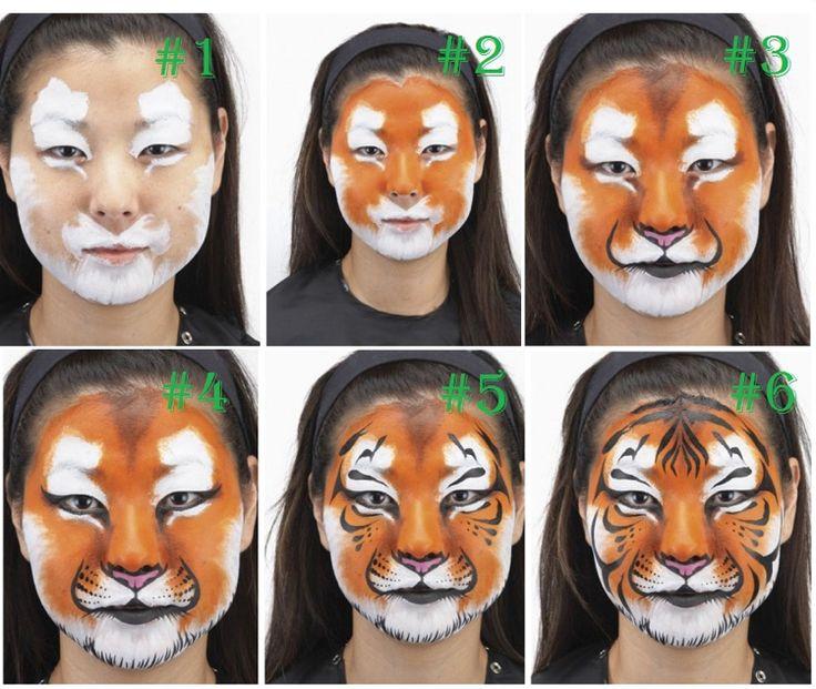 Tiger schminken – Eine einfache Anleitung und jede Menge Anregungen