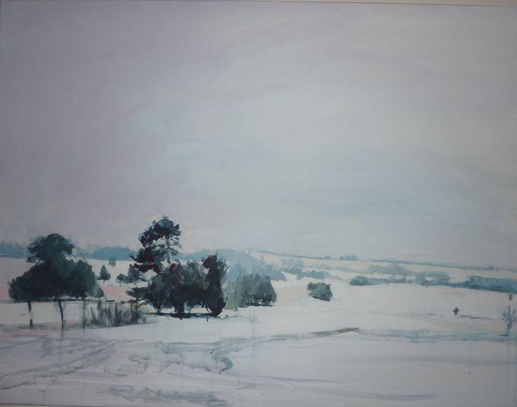 Philip Tyler Hill Barn 71 x 92cm Acrylic on Canvas
