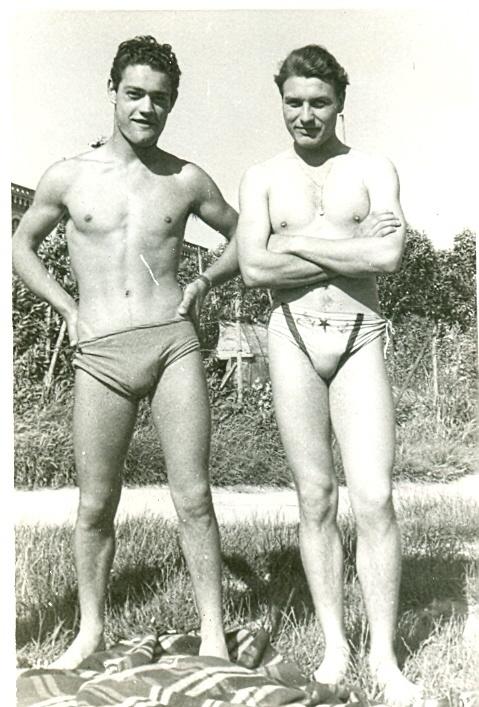 #handsome #gay #men #swimgear...Circa 1970 perhaps.  We've come a long way.