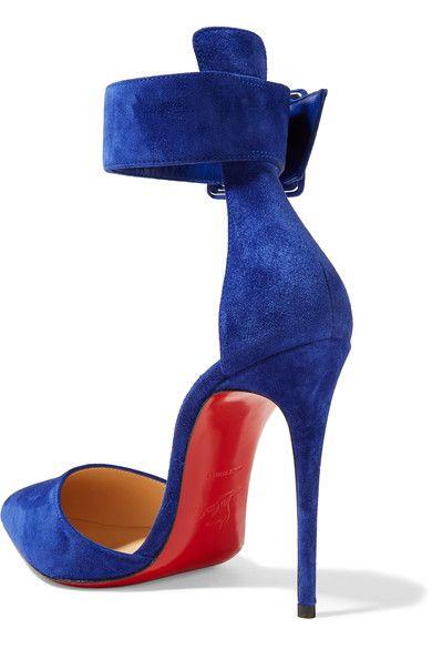 Christian Louboutin - Harler 100 Suede Pumps - Royal blue - IT38.5