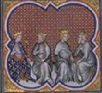 Partage du royaume entre les fils de Clovis. - CLODOMIR. 2) SUCCESSION AU TRONE: LE PARTAGE DU ROYAUME, 2: C'est le royaume de Syagrius qui lui échoit. Ce royaume fut le seul composé d'un seul bloc situé à cheval sur la Loire avec une capitale Orléans, ville conciliaire en 533, 541, 549 et comportant notamment les évêchés de Tours, Poitiers, ainsi que les villes de Bourges et le Limousin.