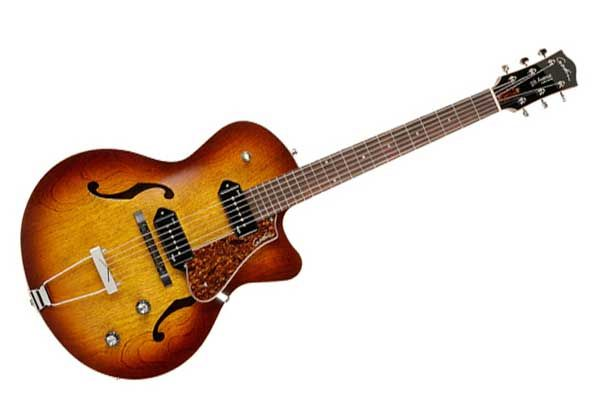 Godin 5th Avenue Kingpin II Cognac Burst  The latest model in the 5th Avenue line-up features a Cutaway body design and the added sounds of two Godin Kingpin P90 single-coil pickups delivering all that classic, vintage tone with presence, clarity and a little attitude thrown in for good measure!  http://melodiamusik.com/product/godin-5th-avenue-kingpin-ii-cognac-burst