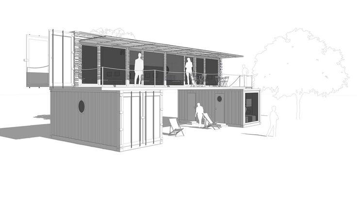 Nákres domu. Snímka:... | Dom z kontajnerov | HNstyle.sk - Lifestyle z prvej ruky pre mužov aj ženy