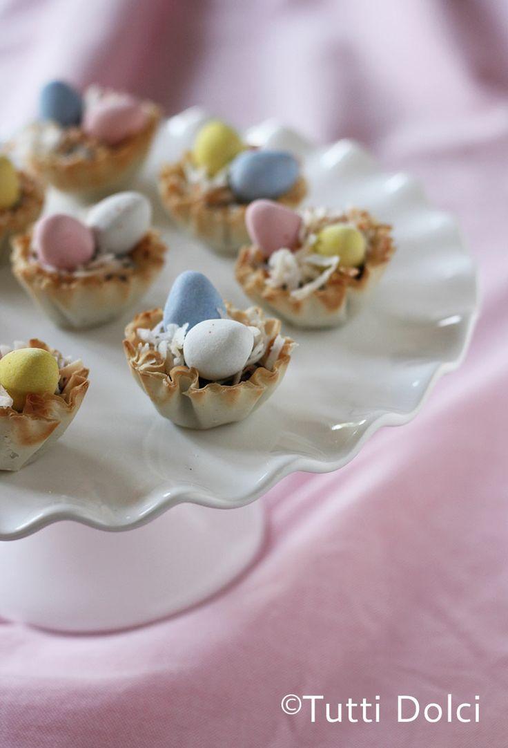 Cadbury Easter Egg Phyllo Cups - thecafesucrefarine.com