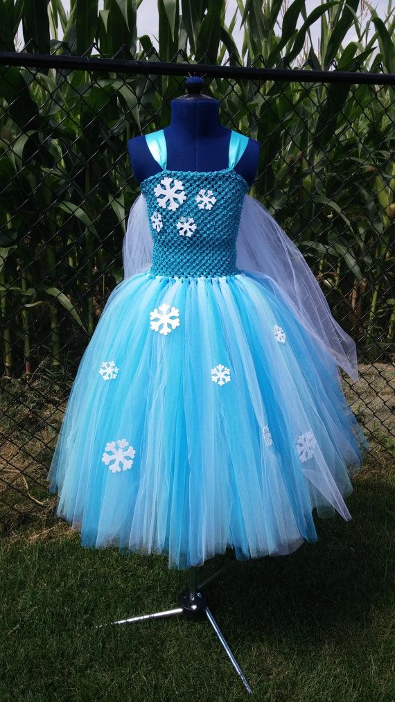 Elsa Inspired Tutu Dress with Cape by TheDreamingLadybug on Etsy