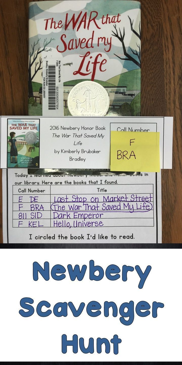 63 best elementary library lessons images on pinterest 1st grades start your newbery award lesson with a scavenger hunt with 80 cards to find novels and non fiction books from the newbery fandeluxe Image collections