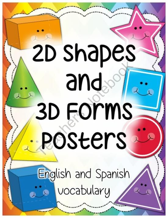 2D Shapes and 3D Shapes (Forms) Poster Set (Set of 20 English