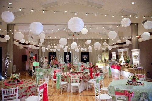 8 Cultural Hall Wedding Receptions. They can be pretty too!!