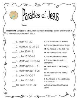 jesus and the use of parables essay Papers - jesus' use of parables to teach about the kingdom of god.