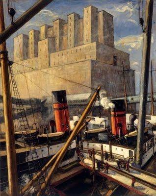 """""""Le port de Montréal"""" 1924 by Adriene Hebert"""