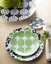 melamine dinnerware has come a long way since i was little- soooo stylish!