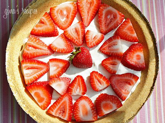Low Fat Strawberry No-Bake Cheesecake -  I also like making this with mixed berries.